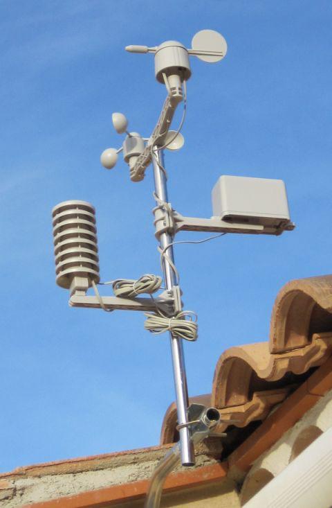 Capteurs de la station météo Velleman WS1080