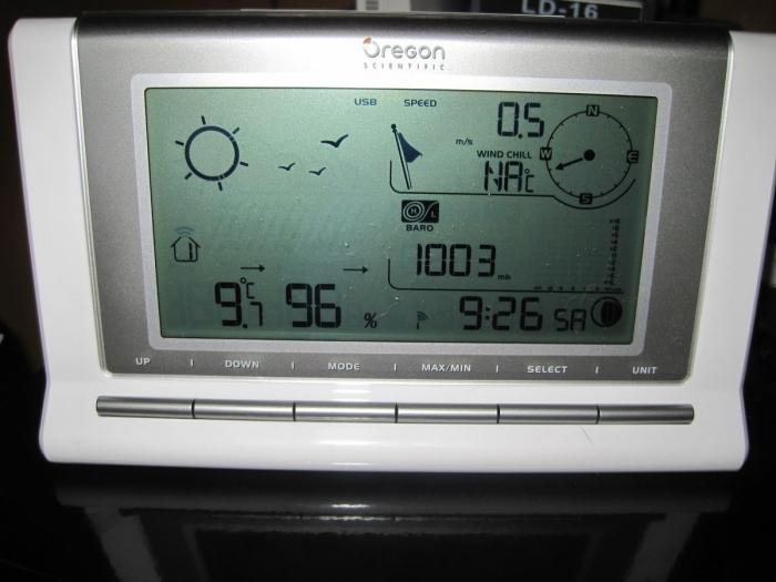 Photo de la console Oregon Scientific WMR88